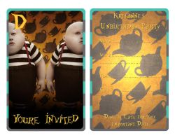 Tweedle DeeDum Invitation by EpikAsia