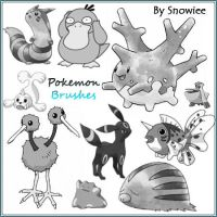 Pokemon Brushes by Snowiee
