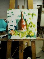 Still Life in Oils WIP by AndrewKwan