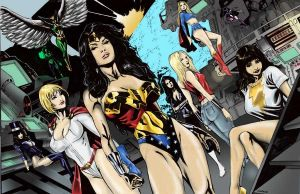 Justice League Gals by brimstoneman34