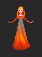 Fire Queen Elsa by Pixelowska