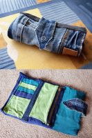 Denim/Recycled Jeans Patchwork Purse by ajnataya