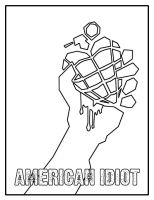 American Idiot Coloring Page by kelly42fox