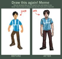 Daily Sketch - Adam Before and After by mohdsyukri83