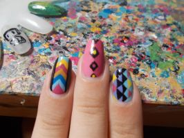 color geometrical nail 1 by Dia003
