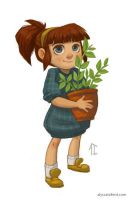 A Girl and Her Plant by AlyssaTallent