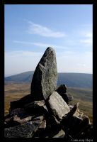 Cairn atop Mayar by throwntothewolves