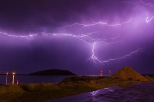 Jetty storm May 12th by PartiallyGelatinated
