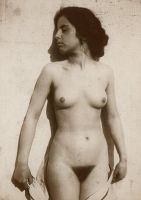 Nude Woman Vintage by SolStock