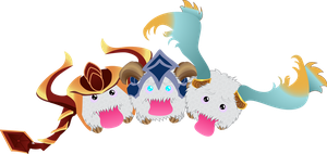 Shyvana, Volibear and Sona Poros by benybing