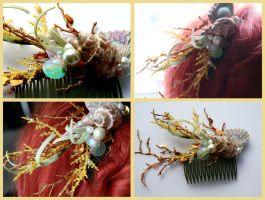 Coral Lorelai Hair Comb by TheRealLittleMermaid