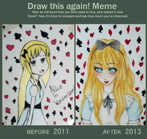 Draw this again: Alice by UtaKokoro