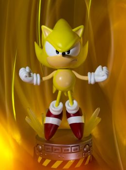 Sonic the hedgehog super Sonic statue by EGGMAN-X