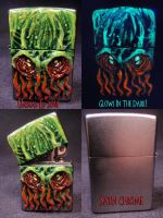 Cthulhu Zippo 1 by Undead-Art