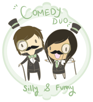Comedy Duo by hyperfluffball