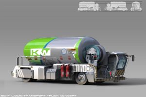 Sci-fi water truck concept by Coolb3rt