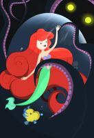 The Little Mermaid in Adventure Time by KrisLiao