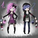 Punk// Adoptables [CLOSED] by LunaX3Adoptables