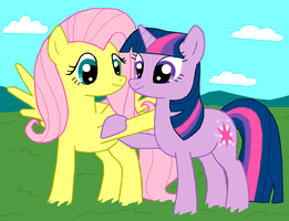 Twilight and Fluttershy by Fluttershy626