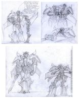 TFP: Dreadwing, skyquake sketchdump by Unita-N
