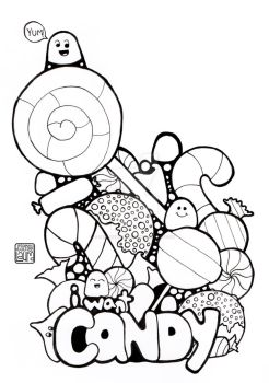 I Want Candy - Coloring Page by DesignedByLaura