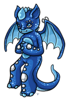 Baby azure dragon by ChuChucolate