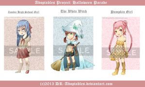 Adoptables Auction! .:Halloween Parade:. [Edit] by RaraSavitri