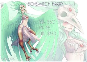 Bone-Witch Harpy (CLOSED) by Blackraven-Adopts
