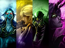 dota wall by unrealsmoker