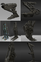 Rigged Robot Legs by DennisH2010