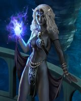 Drow Sorceress by goatlord51
