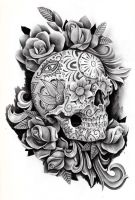 Day of the dead memorial by JCGalleryandStudio