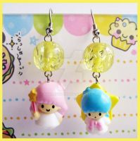 Little Twin Stars Earrings by cherryboop