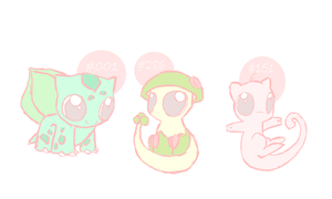 Chibi Pokemon by OxAmy