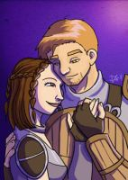 Cousland X Alistair by bukittyan