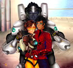 Commission: Carter, Tracer and Winston by manu-chann