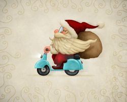 Motorized Santa by jordygraph