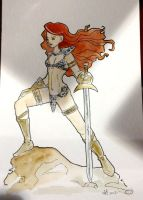 Commission - Red Sonja by freddyscribbles