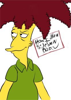 How I draw Sideshow Bob PART ONE by VotrePoison