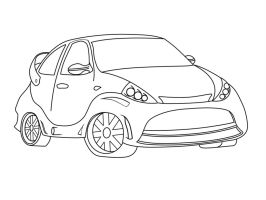 Tunned Ford K Lineart by bruninhoo