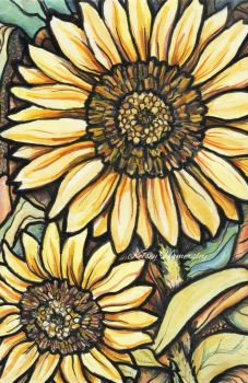 Sunflowers (color) by bookels