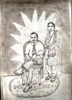 my MOM and Dad by AssamART