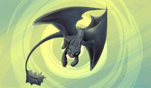 Toothless wallpaper by lucelic