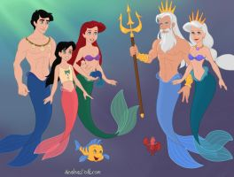 All mermaid family by Astrogirl500