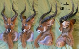 Kudu Head by Magpieb0nes