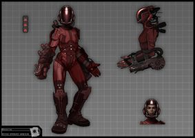 Concept Art RIDDICK AoDA - Revas end fight suit by torvenius