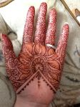 Henna Floral Lace palm by flowerwills