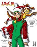 Merry X-mas frm Jak and Daxter by lynnwood