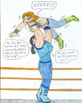 Wrestling Jo vs Eva by Jose-Ramiro