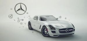 mercedes sls amg by Ready2die87